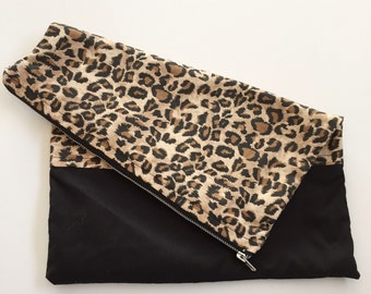 Leopard Fold-over Clutch