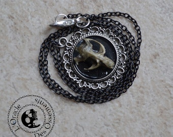 Rodent skull cameo necklace