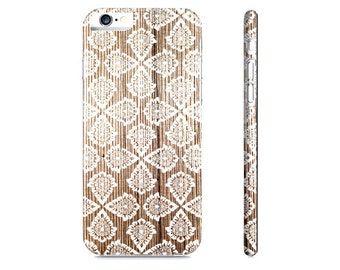 Wood iPhone 6 Case - Damask iPhone Case - Modern iPhone 5 Case - Rustic Wood iPhone Case - Wood Phone Case - The Mad Case