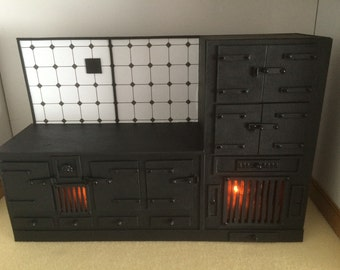 1/12th scale Dollshouse Vintage style Victorian Range Cooker Downton Abbey Replica made to order
