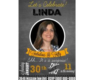 Personalized Birthday Invitation   Front & Back   EktInk