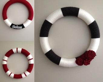 Seasonal Yarn Wreaths