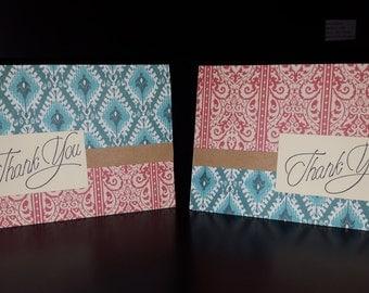 Textile Thank You Card Set