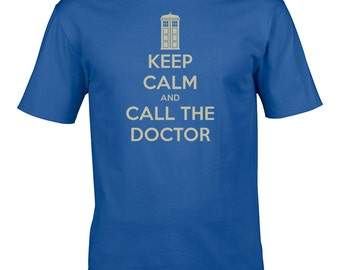 Keep calm and call the doctor - Cool TV Series Inspired Youth's / Boy's T-Shirt From FatCuckoo - YTS1578