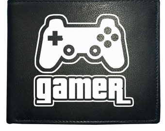 GAMER ICON - Game Geek Graphic Male Men's Leather Wallet From FatCuckoo- WBF1676
