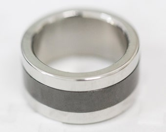 Size: Z +1 (US Size 13)Stainless Steel Band Ring, Men's Steel Band, Gent's Steel Band, Dress Ring