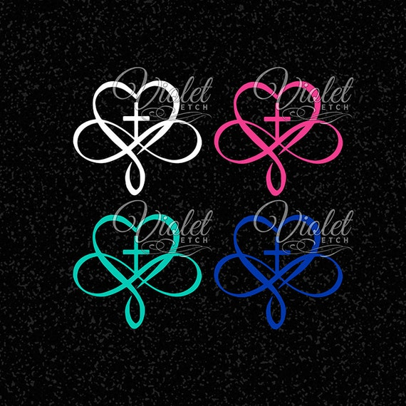 Infinity Decal-Cross Infinity Decal-Heart Infinity Decal-Yeti Decal-Ozark Decal-Window Decal-Wall Decal-Laptop Decal-Mirror Decal