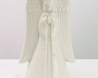 Vintage Ceramic Music Box Angel