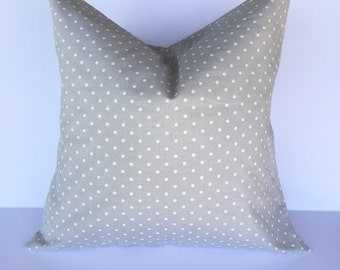 Throw pillow accent pillow cover decorative throw pillow cover gray pillow cover polka dot pillow cover home decor pillow cover