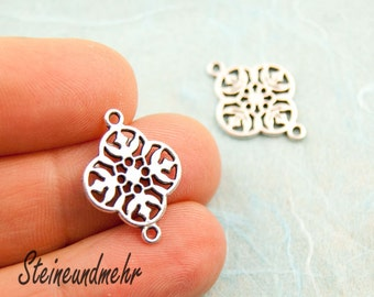 2 pcs. Boho charms with 2 eyes antique silver pl. art.3120