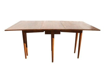 Russel Wright Conant Ball Dining Table, Drop Leaf Table, Mid Century Modern Dining Table, 1950's Dining Table, Dining Room