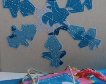 stitched fabric snowflake kit