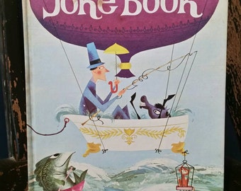 "Retro 1973 ""The Joke Book"" Compiled by Oscar Weigle/ Illustrated by Bill and Bonnie Rutherford/Hardcover Book/Retro Art/Collectible Book"