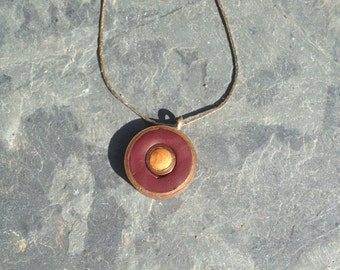 Upcycled Clay and Copper Necklace