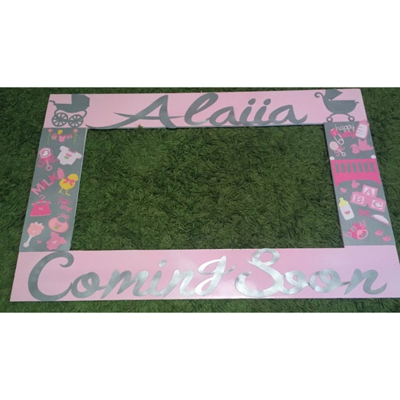 girl baby shower photo booth frame baby shower photo frame and props