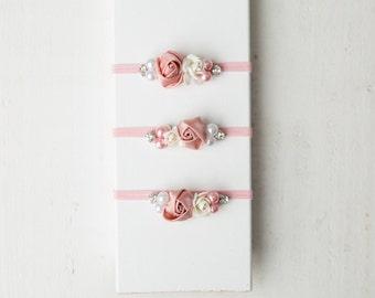 Pink simple and sweet newborn headband