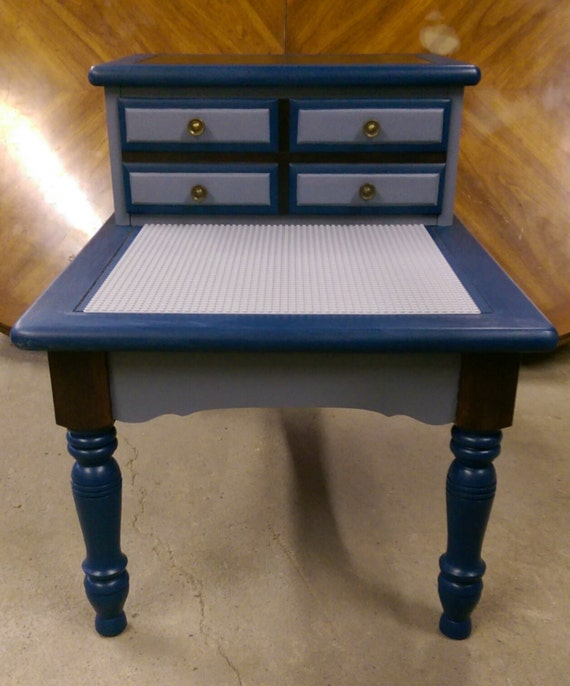 SALE Solid Wood Tier Lego Table w/ Pull-Out Drawer by ...