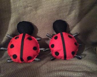 Ladybug Handmade Felt Wall Hanging
