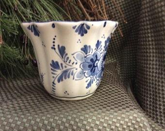 Vintage Delft Flower Pot