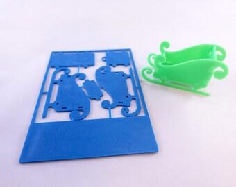 3D Printed Christmas Card Ornaments - Sleigh