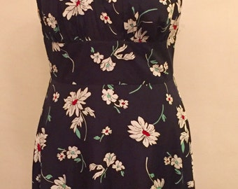 1950's floral halter dress size U.K M/12