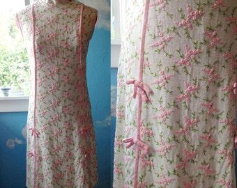 1960's Embroidered Sheath Dress