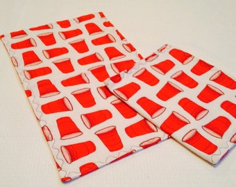 Red Solo Cup Burp Cloths
