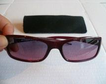 Vintage Italian Brown Vintage Vogue Sunglasses, made in Italy, Rare Ray Ban Sunglasses. Vintage Designer Eyeglasses.
