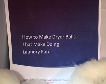 Make Your Own Felted Wool Dryer Balls - A Complete Kit