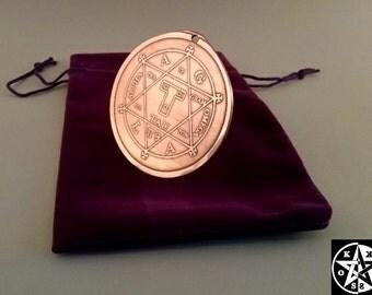 Large Hexagram Of Solomon Goetia Pendant Magick Star Of David