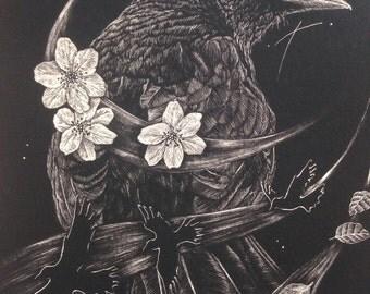 Blackbirds Song - A5 giclee print