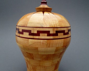 Maple and Purpleheart Segmented Vase 187