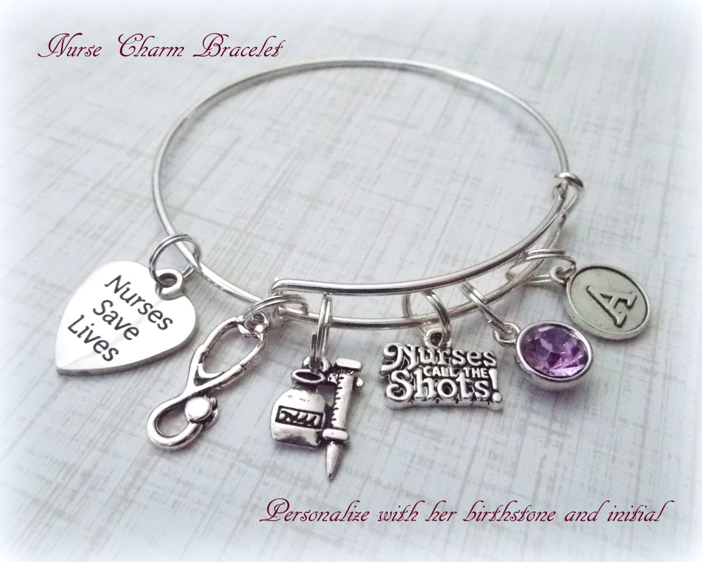 Nurse Gift Ideas, Nurse Charm Bracelet, Gift Ideas for RNs, Nurse ...