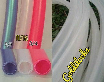 NEW* Goldilocks 11/16 Natural (Clear)  Polypro Hoop-Made to Order