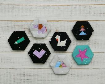 Dream Big - a paper piecing hexagon pattern