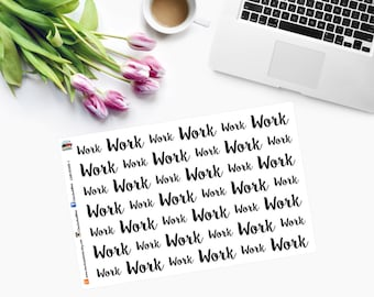 WORK WORD ONLY Planner Stickers CAM00168-1