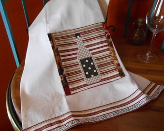 Wine Applique Dish Towel