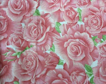 La Via Ea Rose by Avlyn studios. A nice dusty rose print with shades of green leafs