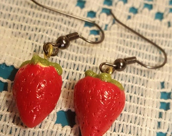 Polymer Strawberry Earrings