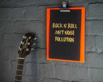 Rock and Roll foil print