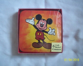 Vintage Mickey Mouse Coaster Set