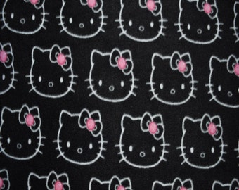 Hello Kitty Bling Fleece Fabric Print (By The Yard)