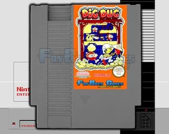 """SPECIAL ORDER! """"Dig Dug"""" Unreleased Nintendo NES, Arcade Original!"""