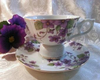 Vintage Lefton Musical Tea Cup & Saucer Set