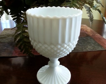 Westmoreland English Hobnail Footed Compote / Goblet