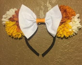 Fall Floral Yellow and Orange Ears