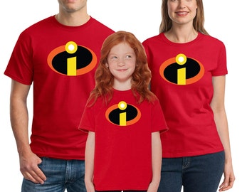 The Incredibles T-shirts Men's, Women's, Youth, Toddler and Baby Bodysuit Creeper Halloween Cosplay shirts