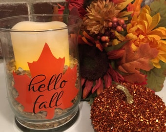 Hello Fall Versatile Vase and Candle Holder