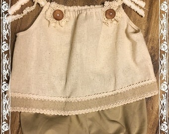 Vintage Inspired Baby Girl Outfit