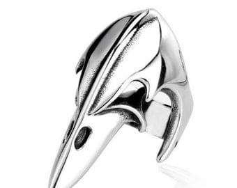 Raptor skull ring stainless steel 316 L Bill for him and her (TI-016)